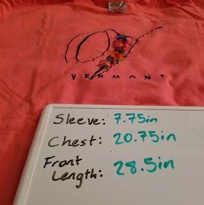 Vintage Shirts - Vintage   Vermont 1990's Souvenir Oneita Power T